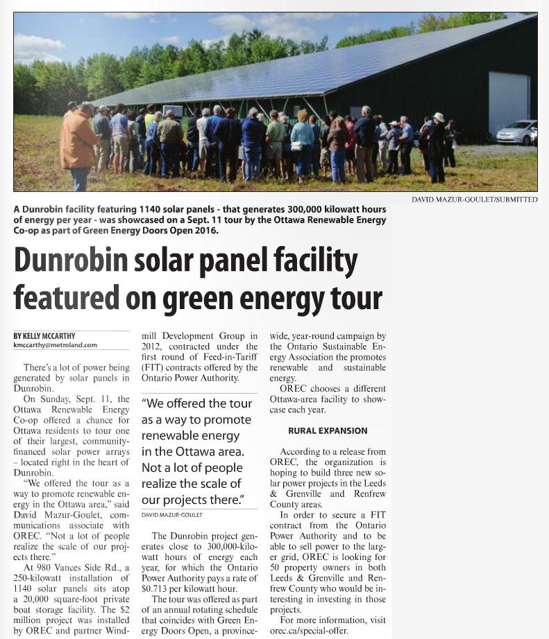 Dunrobin Tour Article