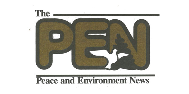 The Peace and Environment News Logo