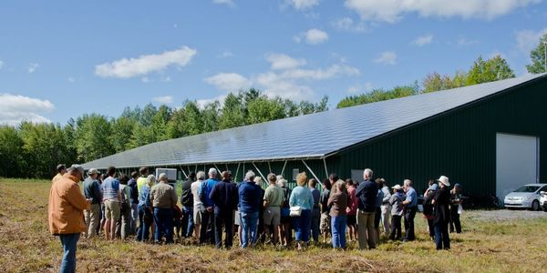 A group tours the Dunrobin project